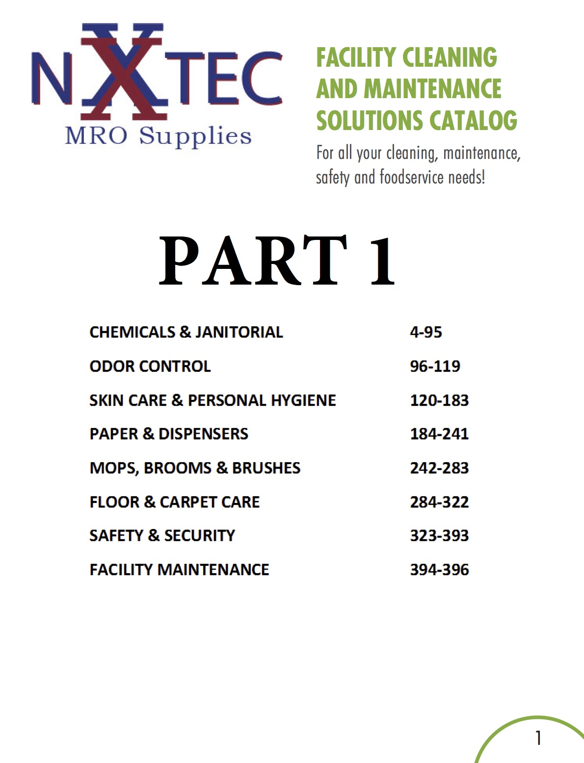 Facility Supply Catalog Part 1